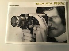 New listing Bolex 280 Macrozoom super 8 movie camera instruction manual 1972