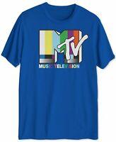 MTV Mens T-Shirt Blue Size XL Crewneck Retro Music Television Classic Tee 305