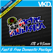 Metal Mulisha Sticker/ Decal - Motocross Moto FMX MX MTB 4x4 Ute Straya Flag AUS