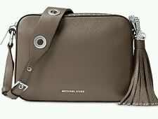 NWT MICHAEL Kors Leather Brooklyn Large Camera Bag Cinder $398 FACTORY WRAPPED!