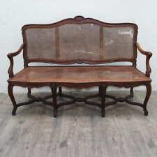 elegante divano Rocaille '900 in noce massello francese