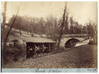 France, Environs de Lyon, Pont d'Alaï  vintage print  Tirage albuminé