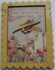Mary Englebreit 3D Magnet Sow Good Services Vintage 1993 Remembrances Will Grow