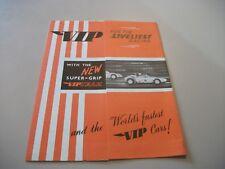 VIP VICTORY INDUSTRIES (RACEWAYS) LTD 1960's FOLD OUT LEAFLET