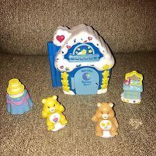 Lot Vintage Care Bears Play Set Blue House Bedtime Birthday Friend TCFC Orange