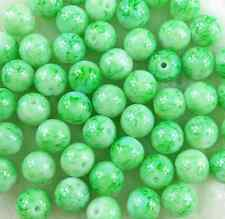 100Pcs 6mm Light Green Glass Pearl Round Spacer Beads W42