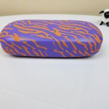 Thalia Sunglass Eyeglass Hard Clamshell Case Purple Orange New Stocking Stuffer