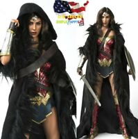 "1/6 wonder woman long fur cloak for phicen hot toys 12"" figure ❶US IN STOCK❶"