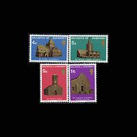 Guernsey, Sc #37-40, MNH, 1970, Christmas, Holiday, Churches, AR5RAD-C