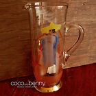 Vintage 50's TALL Hand Painted Mexican Design Glass Jug 28cm High