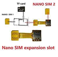 Hybrid Nano SIM SD Card Adapter for Samsung S8/S8 Plus - Support 2 SIM & 1 SD