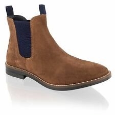 New Mens Suede Leather Chelsea Dealer Smart Dress Ankle Boots Shoes Size 7-12