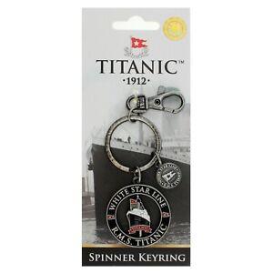Titanic Vintage Collectors Spinner Metal Keyring (sg)