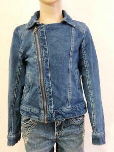 JUSTICE jacket girl denim size 5