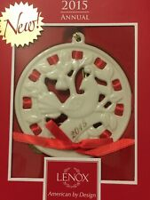 2015 Lenox Christmas Wrappings Partridge Ornament Mint