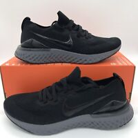 Nike Epic React Flyknit 2 Men's Running Shoes Black Dark Gray BQ8928-001 SZ 8