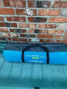 YELLOWSTONE  ASCENT 4 PERSON  DOME TENT , 2 CAMPING ROLLS , COOKING SET