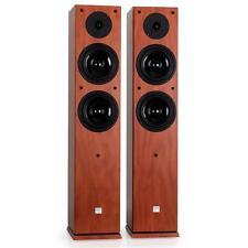 POWERFUL 2-WAY FLOOR STANDING SPEAKERS HIFI STEREO TOWER LOUDSPEAKERS 240W PAIR