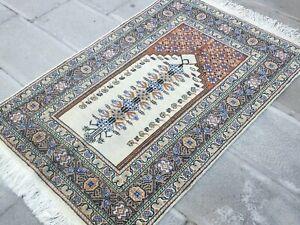 Gray Rug 2.8x4.2 ,Faded Carpet,Bohemian Rug,Turkish Rug,Tribal Rug,Antique Rug.