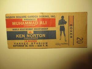 "9/28/1976 ONSITE TICKET ""MUHAMMAD ALI VS KEN NORTON""-YANKEE STADIUM"