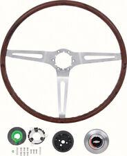 1969 GM Rosewood 16 Inch Diameter Steering Wheel Kit