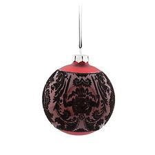 DISNEY PARKS HAUNTED MANSION RED BLACK LARGE CHRISTMAS HALLOWEEN ORNAMENT NEW