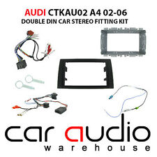 Audi A4 2002-2006 Car Stereo D/Din Fascia & Steering Wheel Interface CTKAU02
