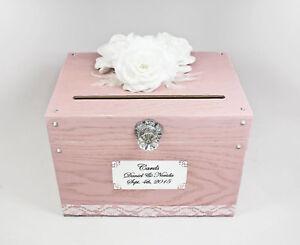 Pretty Pink Card Box for Wedding, Baby Shower Card Box, Pink Wedding Decor,