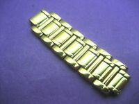 BULOVA 98R165 QUARTER BAND LADIES WATCH GOLD PLATED 44.00 MM LONG X 14.00 LINK