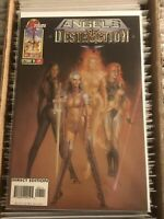 ANGELS OF DESTRUCTION #1 WITCH HUNTER HAJIME SORAYAMA COVER bendis malibu 1996