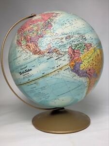 "Vintage Replogle World Nation Series 12"" Globe LeRoy Toman Raised Relief USSR"