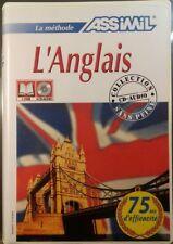 ANGLAIS - MÉTHODE ASSIMIL - COFFRET 1 LIVRE & 4 CD - OCCASION BON ETAT