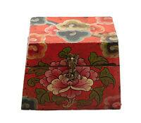 Caja Budista Concha Y Lotus Tibet 15cm Artesanía Tibetano 5862