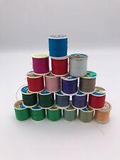 Lot of 19 Vintage Spools of Thread - Various Colors, J.P. Coats Dual Duty