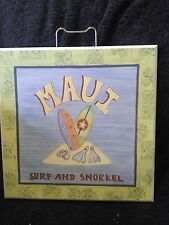 MAUI SURF AND SNORKEL WOOD WALL SIGN PLAQUE