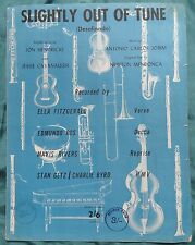 Slightly Out Of Tune recorded by Ella Fitzgerald, Stan Getz, Edmundo Ros 1962