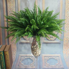 Plastic Lifelike Artificial Fern Foliage Bush Plants Indoor/outdoor Decoration
