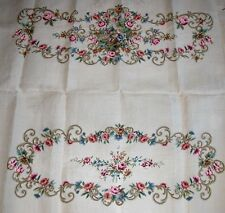 EP 4561 Vintage Floral Love Seat Set Preworked Design Needlepoint Canvas
