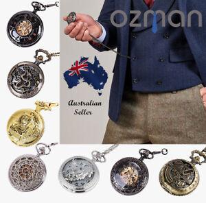 Men's Pocket Watch Vintage Skeleton Steampunk Retro Antique Quartz/Mechanical
