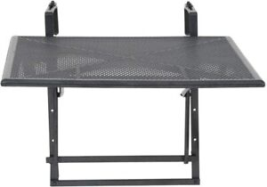 Greemotion 416505 Table Wall Balcony Terrace Adjustable Grey 60 x 40 X 56 CM