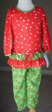 NEW Laura Dare Toddler Girl Dot Ruffle Long Sleeve 2pc PJ Holiday Set Sz 3T NWT
