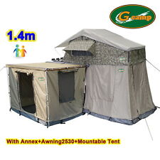 G CAMP 1.4m EXT ROOF TOP TENT TRAILER 4WD 4X4 CAMPING CAR RACK ANNEX AWNING WALL
