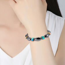 Unisex Handmade Bracelets Magnetic Gallstone Strand Bead Bracelet Jewelry YG