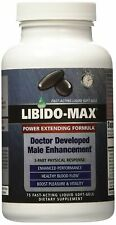 Libido-Max Power Extending Formula,75 fast act liquid soft-gels (NEW SEALED)