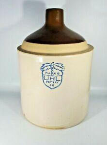 UHL Pottery Co Acorn Wares Whiskey Jug Shoulder Stoneware Huntingburg Indiana
