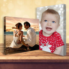 "Your Personalised Photo on Canvas Print 20"" X 16"" Framed A2 Ready to Hang Sepia"