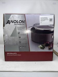 Anolon Authority Hard-Anodized Nonstick Covered Dutch Oven5 Quart Gray H058