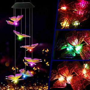 Windspiel Solarbetriebene 6LED-Leuchte wechselnd Kolibri hängend Garten Außen DE