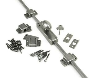 From The Anvil Pewter Cremone Espagnolette French Door Window Bolt, 91788 Single