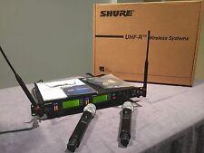 Shure UR4D+H4 Dual CH Wireless Microphone 518-578 MHz w/2 UR2 Beta 87A Handhelds